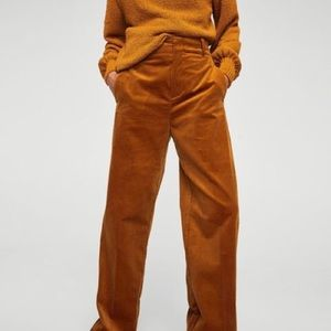 Zara High Waist Corduroy Pants